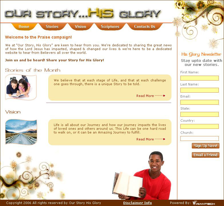 Our Story...His Glory