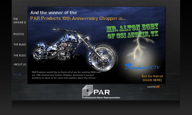 PAR Products Chopper Giveaway Contest Tim Shiner Go Logo Custom Chopper Proficient Audio Systems, Rhino hellip