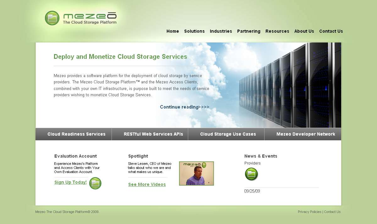 Cloud Storage Solutions for Service Providers by Mezeo