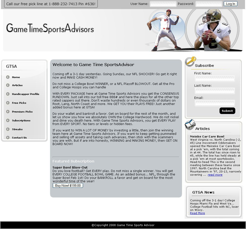 Game Time Sports Advisors